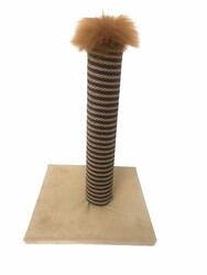 Diğer / Other - Kare Tabanlı Kedi Tırmalama Platformu 40 Cm