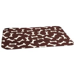 Karlie - Karlie 1030690 Kahverengi Kemik Desenli Yumuşak Battaniye 100x70 Cm