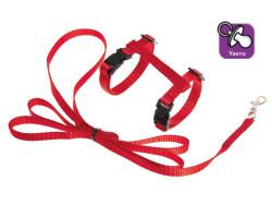 Karlie - Karlie 1031362 Kırmızı Yavru Kedi Göğüs Tasması+Uzatma