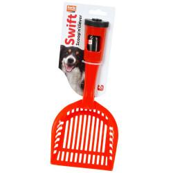 Karlie - Karlie 47938 Izgaralı Köpek Tuvalet Küreği + Dışkı Poşetli (Kırmızı)