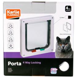 Karlie - Karlie 507510 Porta 4 Yönlü Kilitli Kedi Kapısı 19,2 x 20 Cm (Beyaz)