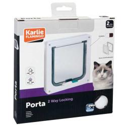 Karlie - Karlie 507512 Porta 2 Yönlü Kilitli Kedi Kapısı 19,2 x 20 Cm (Beyaz)