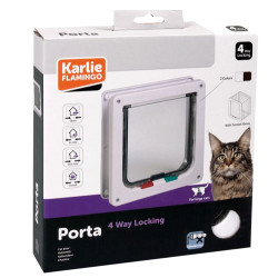 Karlie - Karlie 507517 Kilitli 4 Yönlü Kedi ve Köpek Kapısı 23,5 x 25,2 Cm (Kahverengi)