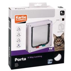 Karlie - Karlie 507516 Kilitli 4 Yönlü Kedi ve Köpek Kapısı 23,5x25,2 Cm (Beyaz)