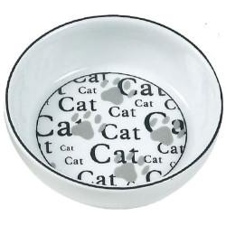 Karlie - Karlie 507767 Porselen Cat Desenli Kedi Yaş ve Kuru Mama Kabı 13 Cm