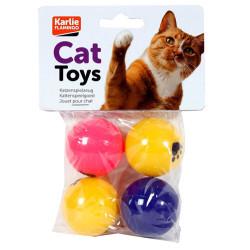 Karlie - Karlie 46230 Çıngıraklı Pinpon Kedi Oyuncağı 4 Cm (4lü Paket)