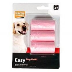 Karlie - Karlie Flamingo Pembe Hijyenik Dışkı Toplama Poşeti 3lü Paket