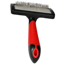 Karlie - Karlie 1030239 Professional Tüy Temizleme Fırçası Large 19x12 Cm (Kırmızı/Siyah)