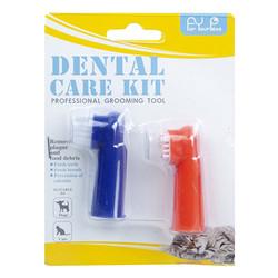 Diğer / Other - Kedi ve Köpek 61656 Dental Care Kit 2li Parmak Diş Fırçası