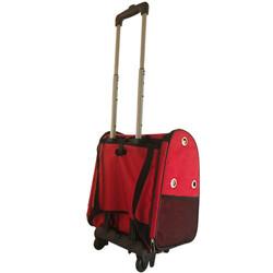 Kedi ve Köpek Çekçekli Sırt ve Tekerlekli Taşıma Çantası 40 x 37 x 27 Cm ( Kırmızı ) - Thumbnail