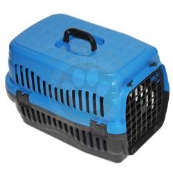 Pet Master - Pet Master Kedi ve Köpek Plastik Taşıma Kafesi Mavi (50x32x31 Cm)