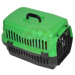 Pet Master - Pet Master Kedi ve Köpek Plastik Taşıma Kafesi Yeşil (50x32x31 Cm)
