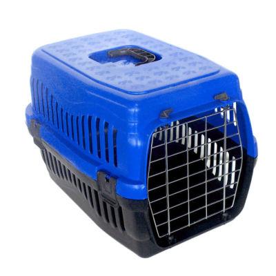 Kedi ve Küçük Irk Köpek Metal Kapılı Taşıma Kafesi Lacivert (48,5 x 32 x 32 Cm)
