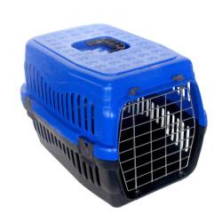 Diğer / Other - Kedi ve Küçük Irk Köpek Metal Kapılı Taşıma Kafesi Lacivert (48,5x32x32 Cm)