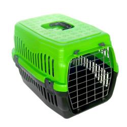 Diğer / Other - Kedi ve Küçük Irk Köpek Metal Kapılı Taşıma Kafesi Yeşil (48,5 x 32 x 32 Cm)