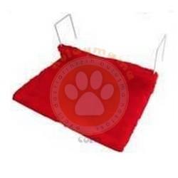 Diğer / Other - Kırmızı Askılı Radyatör Minder Kedi Yatağı 47x37x22 Cm