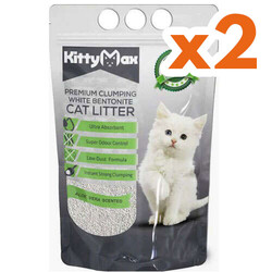 Kitty Max - Kitty Max Aloe Vera Kokulu Topaklanan Kedi Kumu 10 Lt x 2 Adet