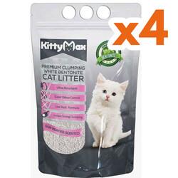 Kitty Max - Kitty Max Bebek Pudra Kokulu Topaklanan Kedi Kumu 5 Lt x 4 Adet