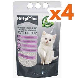 Kitty Max - Kitty Max Lavanta Kokulu Topaklanan Kedi Kumu 5 Lt x 4 Adet