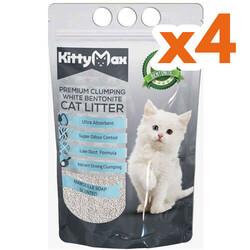 Kitty Max - Kitty Max Marsilya Sabun Kokulu Topaklanan Kedi Kumu 5 Lt x 4 Adet
