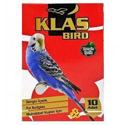 Klas Bird - Klass Bird Ballı Muhabbet Kuşu Krakeri 276 Gr (10lu Paket)