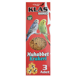 Klas Bird - Klass Bird Ballı Muhabbet Kuşu Krakeri 81 Gr (3lü Paket)