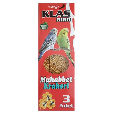 Klass Bird Ballı Muhabbet Kuşu Krakeri 81 Gr ( 3'lü Paket )