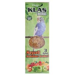 Klas Bird - Klass Bird Meyveli Muhabbet Kuşu Krakeri 81 Gr ( 3'lü Paket )