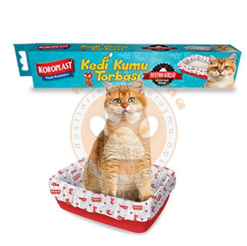 Koroplast Ekstra Güçlü Kedi Kumu Torbası 7 Adet (82x50 Cm) - Kedi Tuvalet  Ürünleri - Koroplast