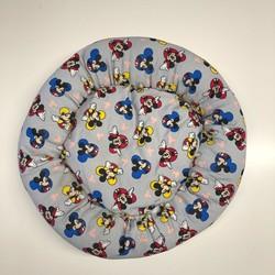 Diğer / Other - Küçük Irk Köpek ve Kedi Kumaş Simit Yatak 50x50 Cm (Renkli Mickey Mouse)