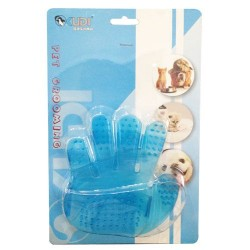 Kudi - Kudi 4118 Mavi Plastik Tımar Eldiveni 11.5 x 12 Cm (Küçük)