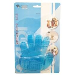 Kudi - Kudi 4118 Mavi Plastik Tımar Eldiveni 11.5x12 Cm (Küçük)