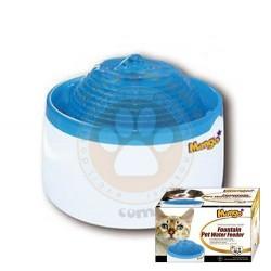KW Zone - KWZone MF888 LED Işıklı Otomatik Küçük Irk Köpek ve Kedi Su Sebili Mavi