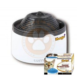 KW Zone - KWZone MF888 LED Işıklı Otomatik Küçük Irk Köpek ve Kedi Su Sebili Siyah