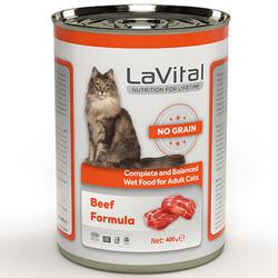 La Vital - La Vital Beef Tahılsız Biftek Etli Püre Kedi Konservesi 400 Gr