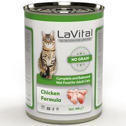 La Vital - La Vital Chicken Tahılsız Tavuk Etli Püre Kedi Konservesi 400 Gr