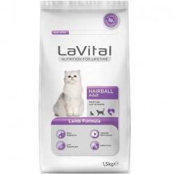 La Vital - La Vital Hairball Tüy Yumağı Kontrol Kedi Maması 1,5 Kg + 5 Adet Temizlik Mendili