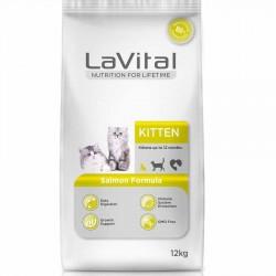 La Vital - La Vital Kitten Somonlu Yavru Kedi Maması 12 Kg+5 Adet 100 Gr Yaş Mama