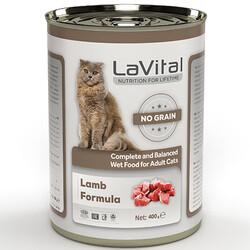 La Vital - La Vital Lamb Tahılsız Kuzu Etli Püre Kedi Konservesi 400 Gr