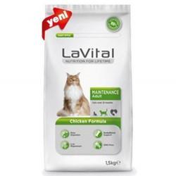 La Vital - La Vital Maintenance Tavuk Etli Kedi Maması 1,5 Kg+100 Gr Yaş Mama