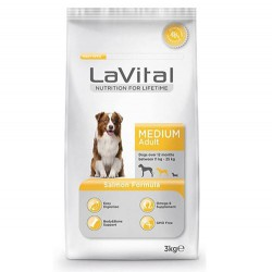 La Vital - La Vital Medium Somonlu Yetişkin Köpek Maması 3 Kg