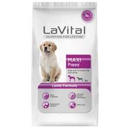 La Vital - La Vital Maxi Puppy Kuzulu Büyük Irk Yavru Köpek Maması 3 Kg+5 Adet Temizlik Mendili