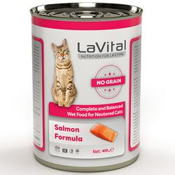 La Vital - La Vital Salmon Sterilised Tahılsız Somonlu Püre Kısırlaştırılmış Kedi Konservesi 400 Gr