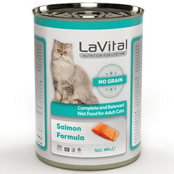 La Vital - La Vital Salmon Tahılsız Somonlu Püre Kedi Konservesi 400 Gr