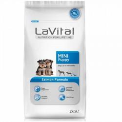 La Vital - La Vital Somonlu Mini Yavru Köpek Maması 2 Kg+2 Adet Temizlik Mendili