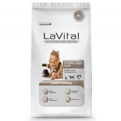 La Vital - La Vital Sterilised Kuzulu Kısırlaştırılmış Kedi Maması 12 Kg+10 Adet Temizlik Mendili