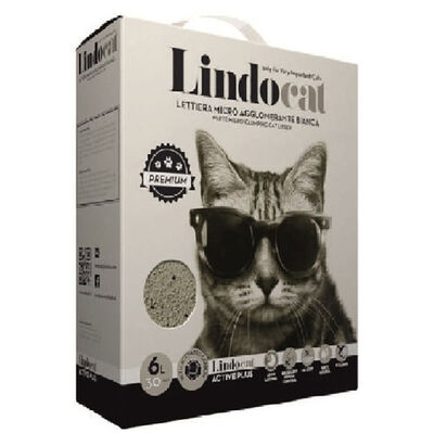 Lindo Cat Aktif Plus Karbonlu Topaklanan Kedi Kumu 6 Lt