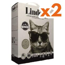 Lindo Cat - Lindo Cat Aktif Plus Karbonlu Topaklanan Kedi Kumu 6 Lt X 2 Adet