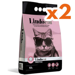 Lindo Cat - LindoCat Hijyenik Topaklaşan Baby Powder Kalın Taneli Kedi Kumu 10 Lt X 2 Adet