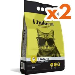 Lindo Cat - LindoCat Hijyenik Topaklaşan Kokusuz Kalın Taneli Kedi Kumu 10 Lt X 2 Adet